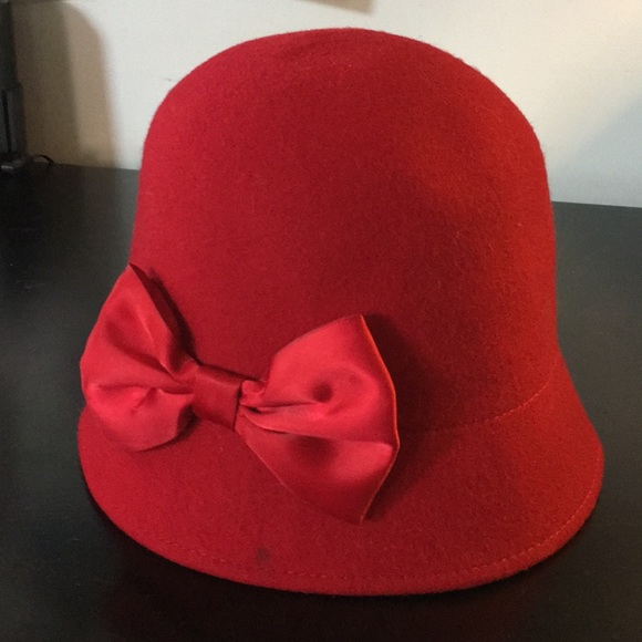 d71c380efb7 Gymboree Other - Gymboree Red Wool Bucket Hat with Red Satin Bow